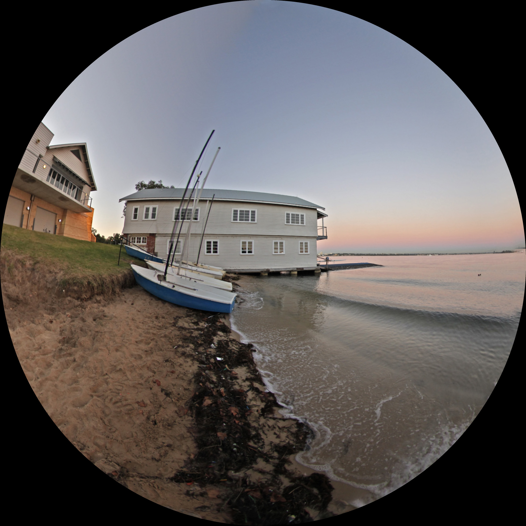 Converting a fisheye image to panoramic, spherical and