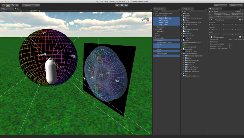 Creating fisheye views with the Unity3D engine