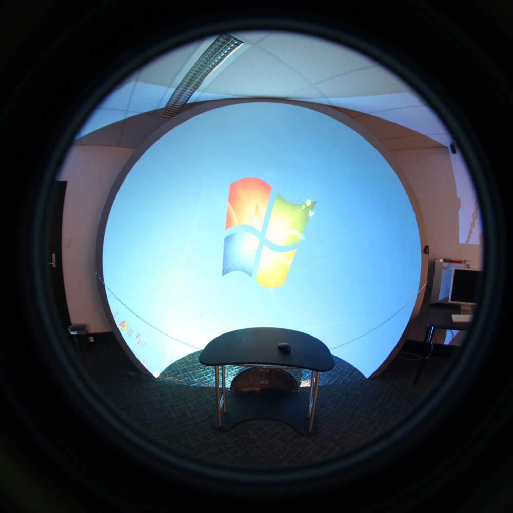 World wide telescope fisheye and spherical mirror projection for Mirror projector